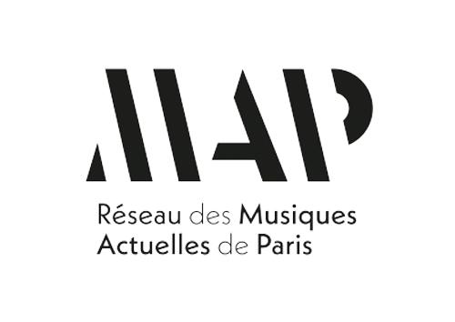 logo reseau map musiques actuelles de paris